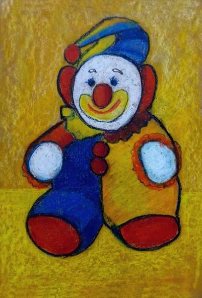 Wall Art - Drawing - The Clown by Asha Sudhaker Shenoy