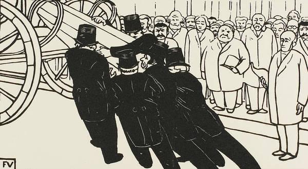 Wall Art - Relief - The Coffin Bearers by Felix Edouard Vallotton