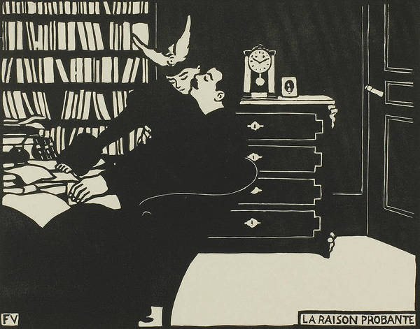 Wall Art - Relief - The Cogent Reason, Plate Four From Intimacies by Felix Edouard Vallotton