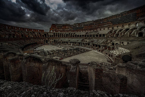 Photograph - The Coliseum Interior by Chris Lord