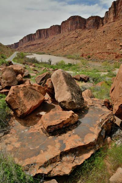Photograph - The Colorado River Head Toward Moab Utah by Ray Mathis