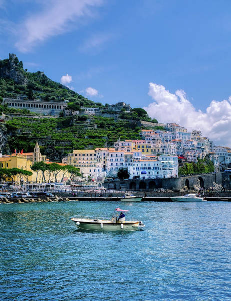 The Colorful Amalfi Coast  Art Print