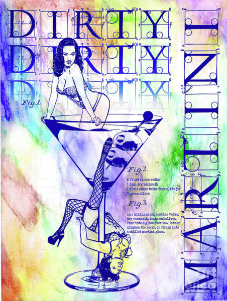 Wall Art - Photograph - The Colorful Dirty Dirty Martini by Jon Neidert