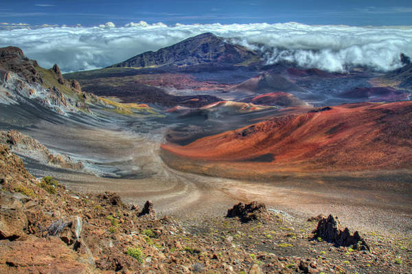 Haleakala Crater Photograph - The Colorful Haleakala Crater, Maui by Pierre Leclerc Photography