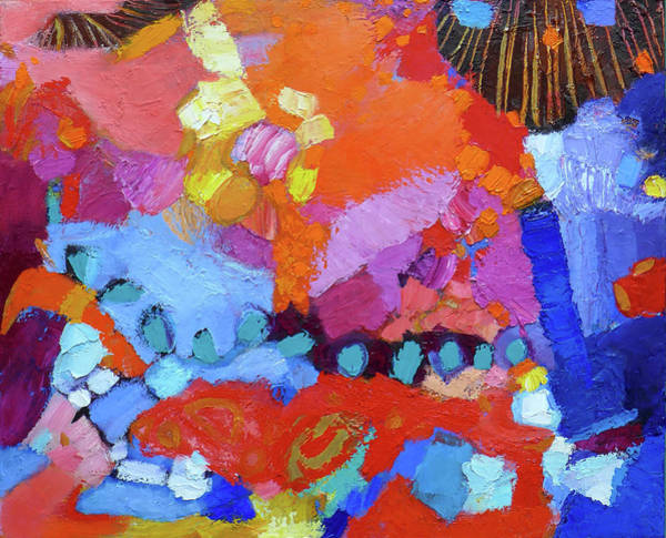 Wall Art - Painting - The Colors Throw A Party by Valerie Erichsen Thomson