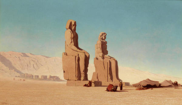 Painting - The Colossi Of Memnon by Theodore Frere