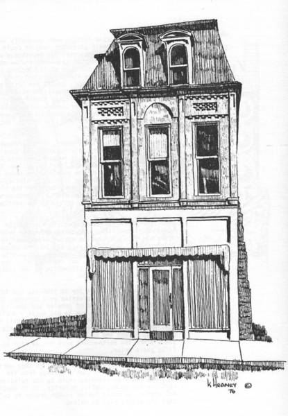 Drawing - The Colwell Building Helena Montana by Kevin Heaney