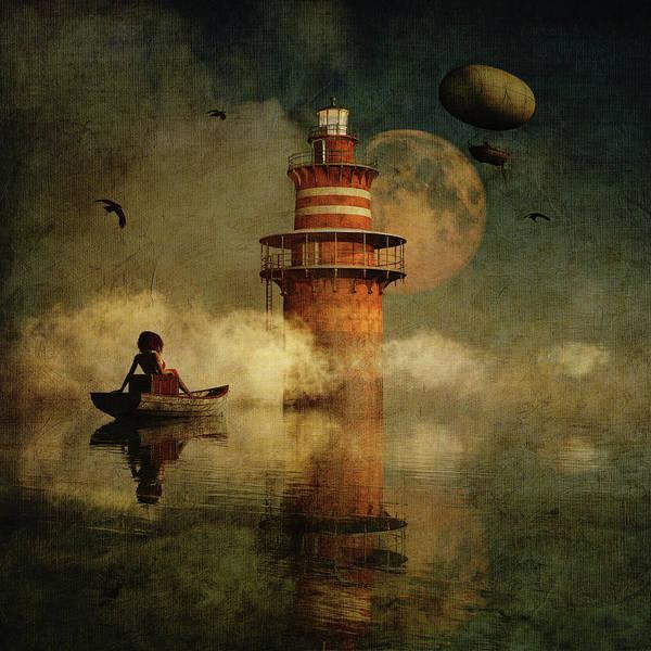 Digital Art - The Conducting Lighthouse by Jan Keteleer