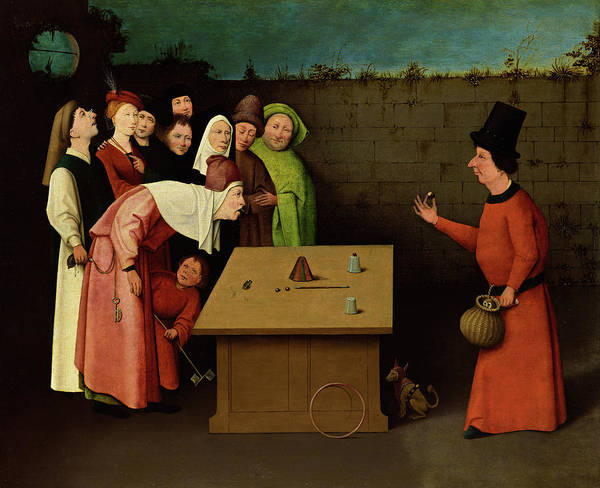 Wall Art - Painting - The Conjurer, 1525 by Hieronymus Bosch