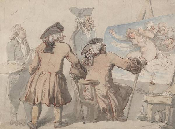 Drawing - The Connoisseurs by Thomas Rowlandson