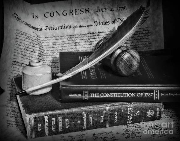 Wall Art - Photograph - The Constitutional Lawyer In Black And White by Paul Ward