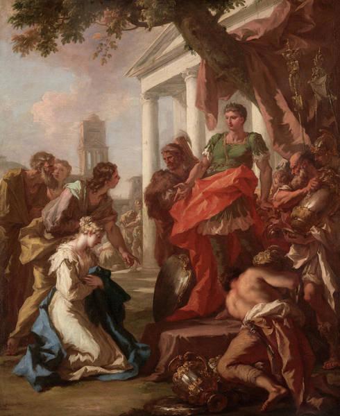 Wall Art - Painting - The Continence Of Scipio, 1710 by Giovanni Antonio Pellegrini