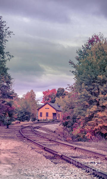Vintage Conway Photograph - The Conway Train Station by Claudia M Photography