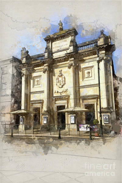 Kings Lynn Wall Art - Painting - The Corn Exchange Kings Lynn by John Edwards