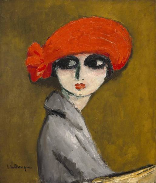 Wall Art - Painting - The Corn Poppy  by Kees van Dongen
