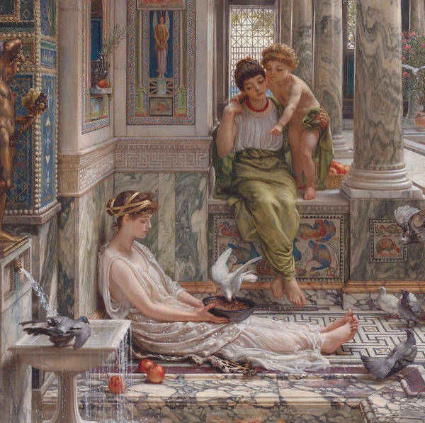 Wall Art - Painting - The Corner Of The Villa by Edward Poynter