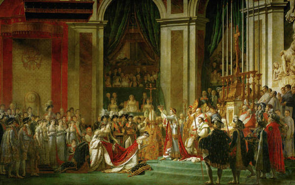 Wall Art - Painting - The Coronation Of Napoleon by Jacques-Louis David