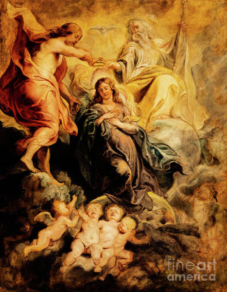 Painting - The Coronation Of The Virgin By The Trinity by Peter Paul Rubens