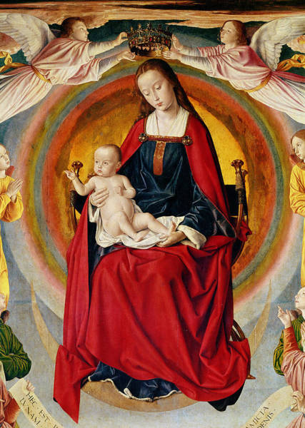 Wall Art - Painting - The Coronation Of The Virgin, Detail From The Bourbon Altarpiece by Master Of Moulins