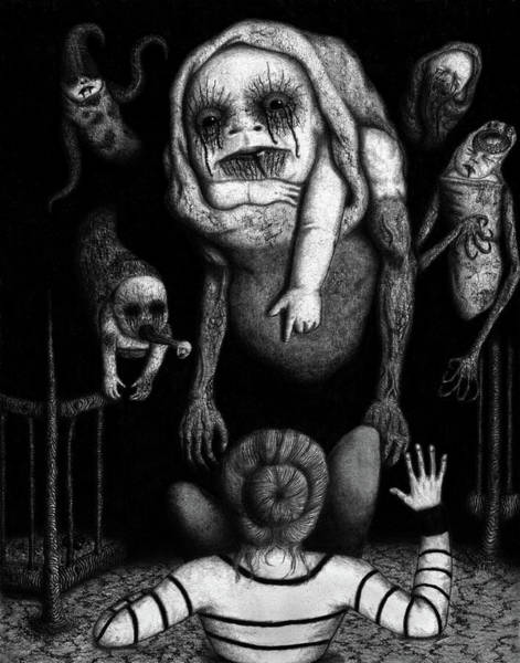 Drawing - The Corrupted - Artwork by Ryan Nieves