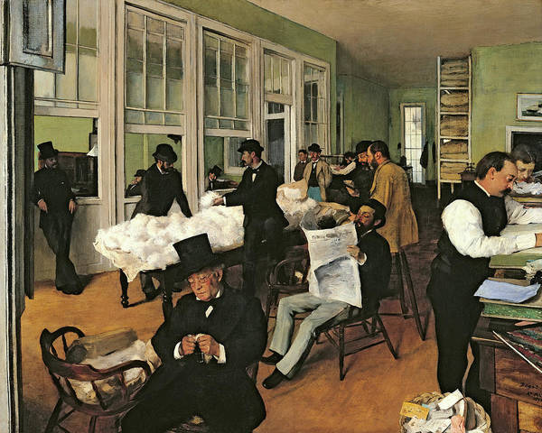 Wall Art - Painting - The Cotton Exchange, New Orleans, 1873 by Edgar Degas