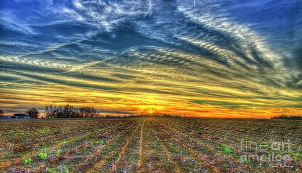 Photograph - The Cotton Field Sunset Oconee County Georgia Landscape Farming Art by Reid Callaway