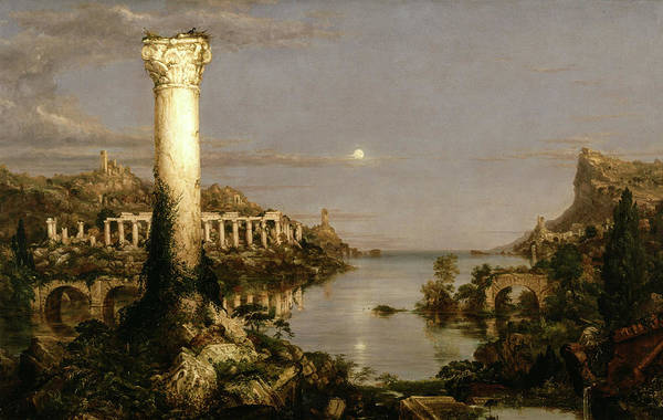 Wall Art - Painting - The Course Of Empire, Desolation, 1836 by Thomas Cole