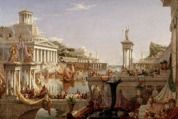 Wall Art - Painting - The Course Of The Empire, The Consummation Of Empire, 1836 by Thomas Cole