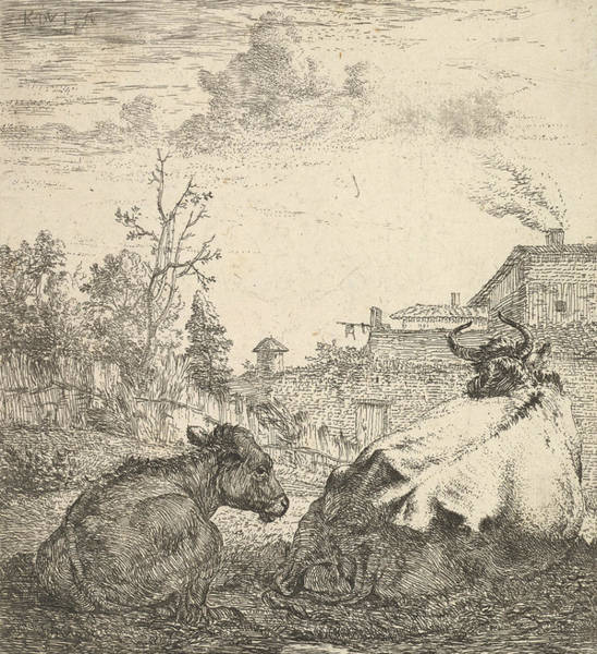 Relief - The Cow And The Calf by Karel Dujardin