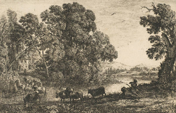 Relief - The Cowherd by Claude Lorrain