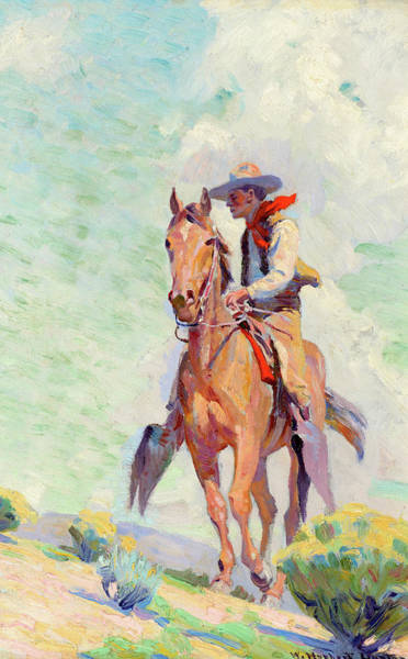 Wall Art - Painting - The Cowpuncher by William Herbert Dunton