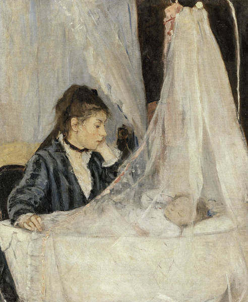 Adolescent Painting - The Cradle, 1872 by Berthe Morisot