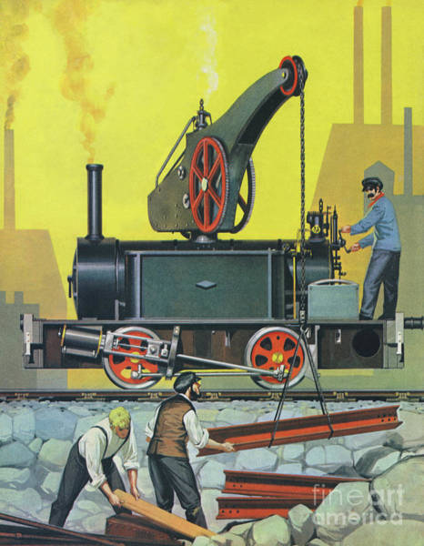 Wall Art - Painting - The Crane Engine by Angus McBride