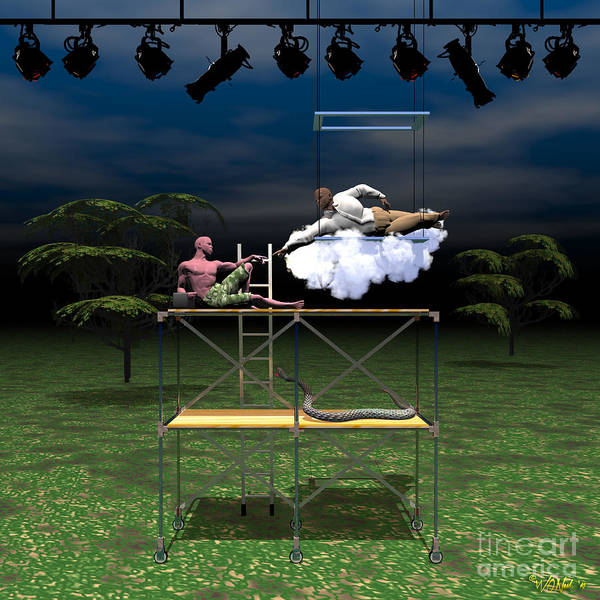 Digital Art - The Creation Of Adam - A Technical Rehearsal by Walter Neal