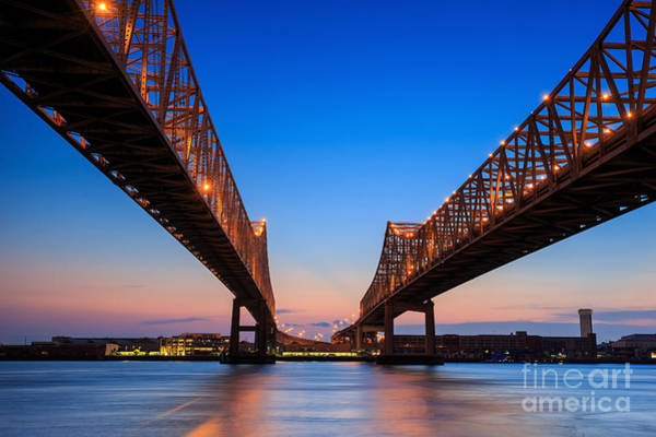 Wall Art - Photograph - The Crescent City Connection Bridge On by F11photo