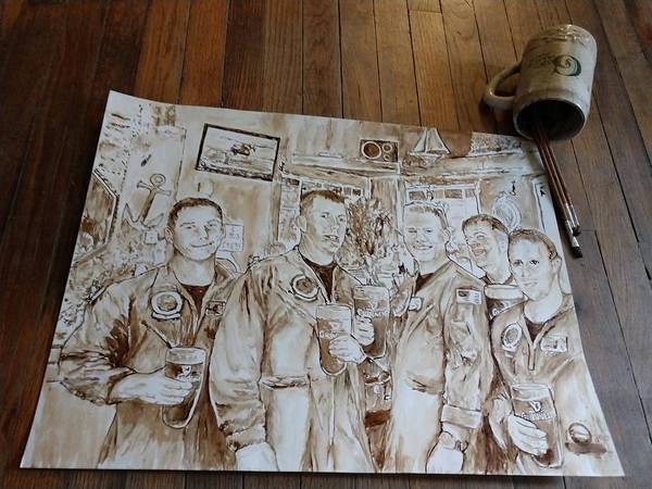 Wall Art - Painting - The Crew by Nathanael Manzer