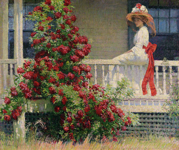 Nobility Painting - The Crimson Ramber, 1908 by Philip Leslie Hale