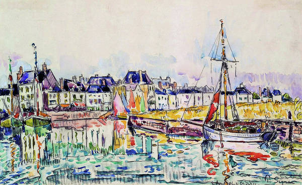 Neo-impressionism Wall Art - Painting - The Croisic - Digital Remastered Edition by Paul Signac
