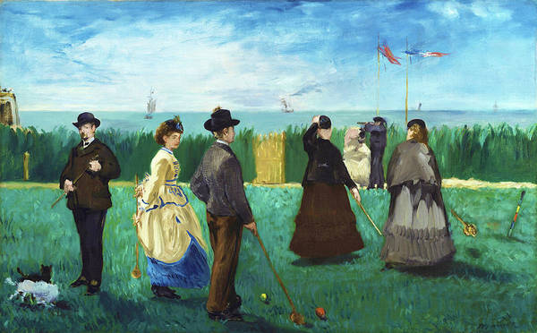 Manet Wall Art - Painting - The Croquet Party - Digital Remastered Edition by Edouard Manet