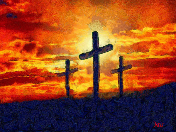 Wall Art - Painting - The Cross by Harry Warrick