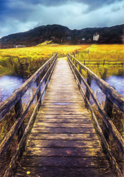 Photograph - The Crossing In Autumn by Debra and Dave Vanderlaan