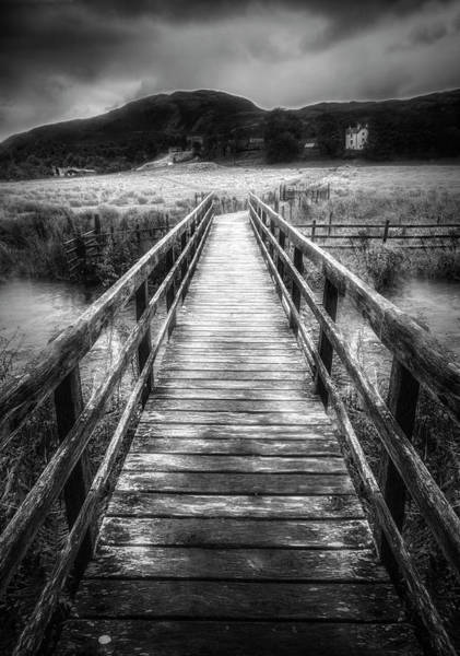 Photograph - The Crossing In Black And White by Debra and Dave Vanderlaan