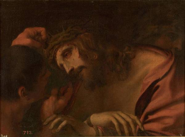Wall Art - Painting - 'the Crowning With Thorns'. Xvii Century. Oil On ... by Andrea Sacchi -1599-1661-