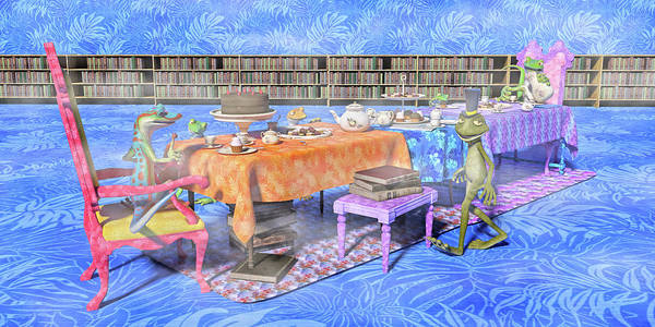 Wall Art - Digital Art - The Curious Tea Party by Betsy Knapp