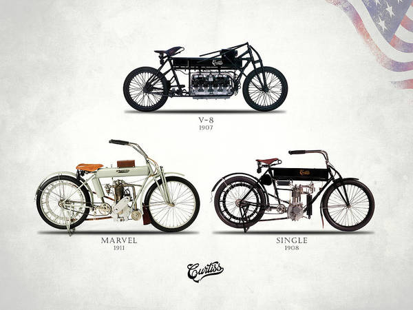 Single Wall Art - Photograph - The Curtiss Motorcycle Collection by Mark Rogan