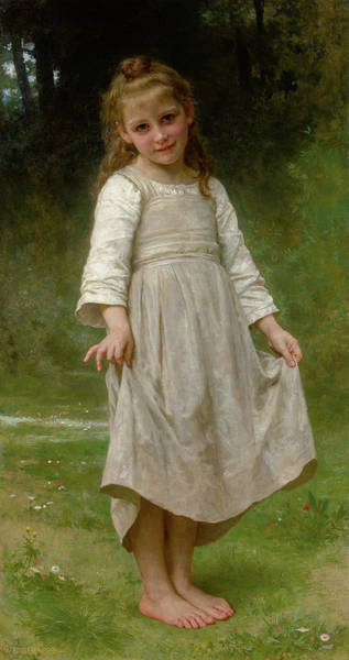 Wall Art - Painting - The Curtsey - La Reverence, 1898 by William-Adolphe Bouguereau