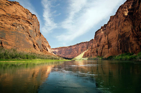 Raft Photograph - The Curve Is Ahead In Glen Canyon by Gail Shotlander