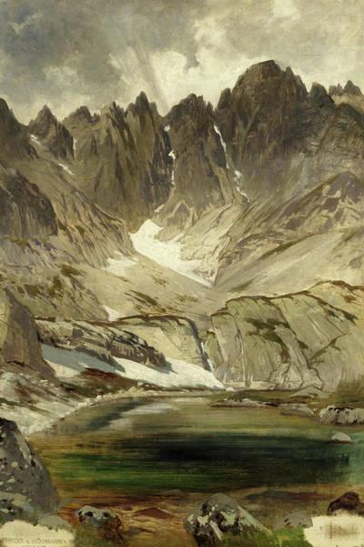 Wall Art - Painting - The Dachstein Glacier, Styria, Austria by Theodore Von Hormann
