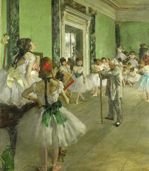 Wall Art - Painting - The Dance Class, Circa 1874 by Edgar Degas
