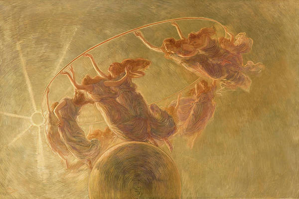 Wall Art - Painting - The Dance Of The Hours, 1899 by Gaetano Previati